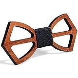 YAYANG Pajarita de madera para hombre, unisex, para hombre, talla retro, para el cuello, de madera, correa ajustable, estilo vintage (color: 6)