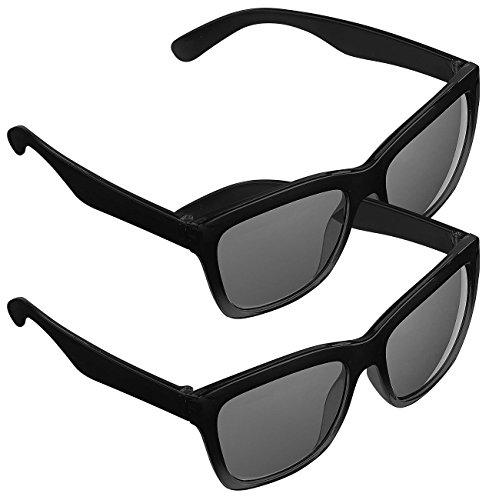PEARL UV Schutzbrille: 2er-Set Sonnenbrillen im Retro-Look, UV-Schutz 400 (Stylische Sonnenbrille)