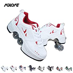 ★Deformation Shoes-different from other skates. Hidden wheels can be like sports shoes, so they are not only roller skates, but also parkour shoes. ★High-Quality Materials-use comfortable and breathable upper and lining, wear-resistant soles, PU Roll...