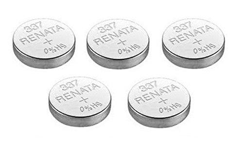 Renata 337 SR416SW 5 x oder Uhrenbatterie, Swiss Made, 1,5 V, Silberoxid