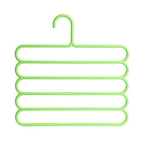 BCHZ Five-layer Hangers Oganizer Holders Pants Clothes Towels Clothing Apparel Space-saving (GN)