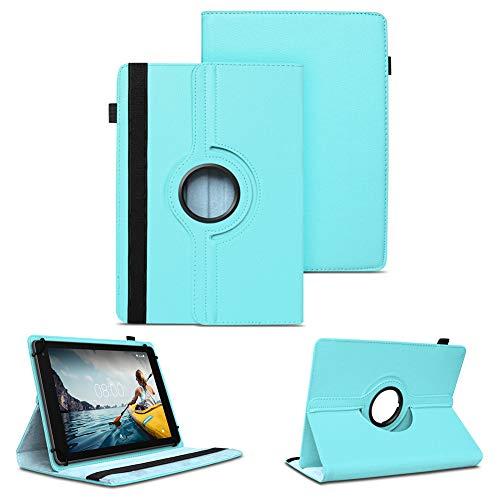 NAUC Tablet Schutzhülle kompatibel für Medion Lifetab P8912 Hülle Tasche Standfunktion 360° Drehbar Cover Universal Hülle, Farben:Hellblau