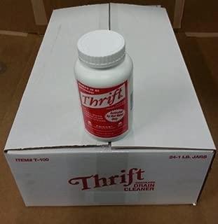 Alkaline Based Drain Cleaner - Thrift Drain Cleaner Case of 24 1Lb Granular - Thrift T-100 by Thrift