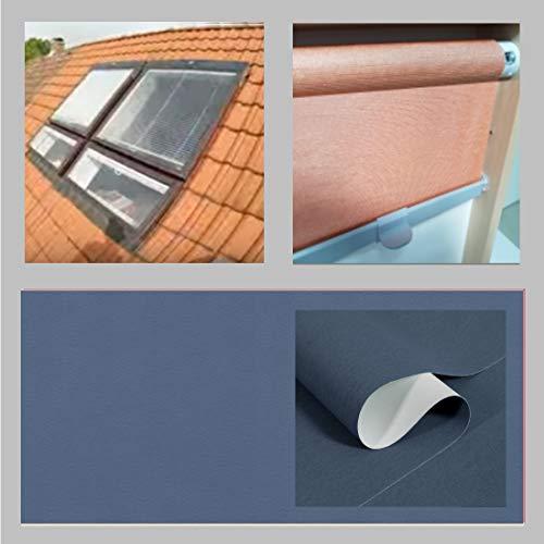 generisch Thermo-Abdunkelungs-Rollo für BRAAS Atelier_Dachfenster_BA/DA, Bauj. 1976-1986_GRAUBLAU 153.59 (85/110)