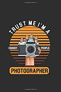 Trust me I'm a Photographer: Cool Animated Design For Photographer Camera Man Picture taking Photography Lover Notebook Co...