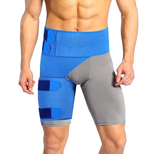 Oberschenkelbandage Kompression, Regulierbare Oberschenkel Bandage mit Rutschfester Gurt für Oberschenkel und Ischiasnerven Schmerzlinderung, Hilfe für Tendinitis, Muskelverletzungen Reha und Erholung