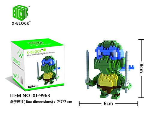 XJ9963 TORTUGA DISFRAZ NINJA COLOR AZUL X-BLOCK