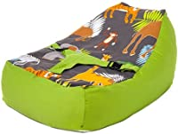 Ready Steady Bed? | Cotton Fabric | Africa Design | Baby Lounger | Bean Bag | Safety Harness | Suitable from Birth