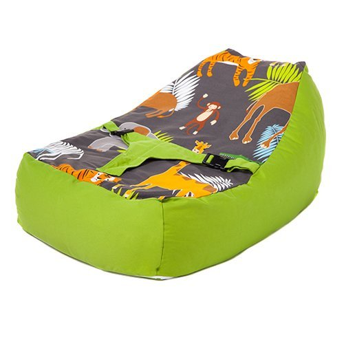 Ready Steady Bed®   Cotton Fabric   Africa Design   Baby Lounger   Bean Bag   Safety Harness   Suitable from Birth