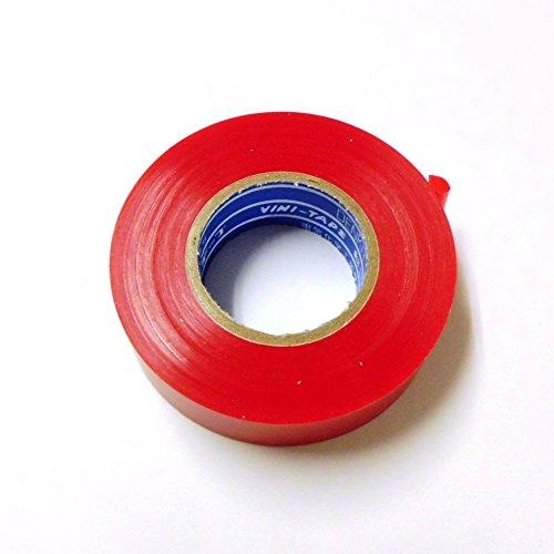【デンカ】ハーネステープ カラー色〔 赤 〕#234W〔10個入〕0.13×19mm巾×20m巻