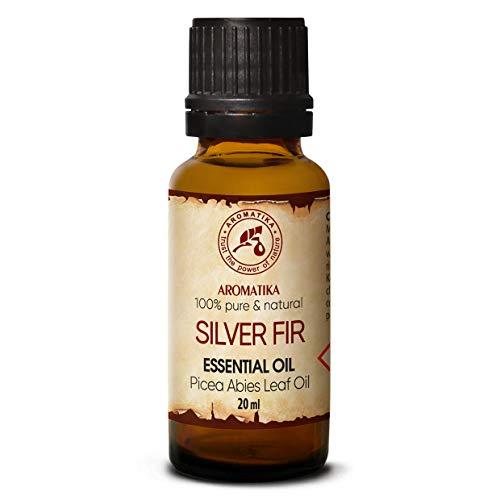 Edeltannennadelöl 20ml - Picea Abies Leaf Oil - Österreich - Weisstanne Öl - 100% Naturreines Ätherisches Tannenöl – Guten für Sauna, Aromatherapie, Diffuser - Silver Fir Oil