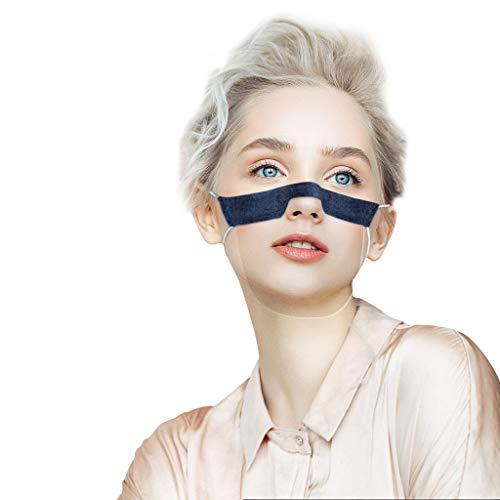 YGbuy 𝓜á𝐬𝐜𝐚𝐫𝐚 Facial Deportivas con Paquete 𝐌𝐚𝐬𝐜𝐚𝐫𝐢𝐥𝐥𝐚𝐬 Antipolvo Netas 𝐌𝐚𝐬𝐜𝐚𝐫𝐢𝐥𝐥𝐚𝐬 Lavables Reutilizables PVC Transparente Visual (Armada, 5 Piezas)