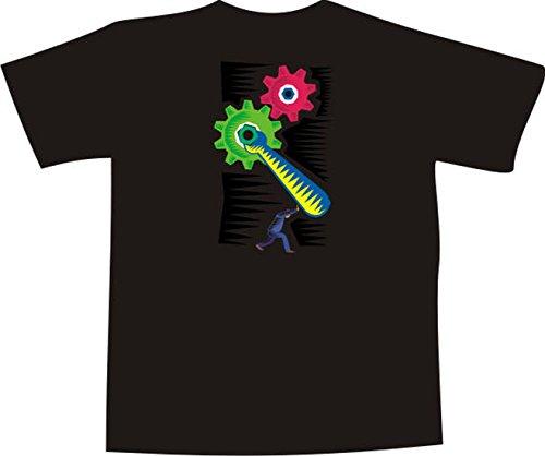 Black Dragon - T-Shirt F464 - Blanco - Talla XXL - Computer Mainboard - Hombre...