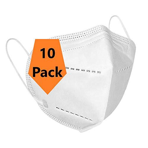 【10 Stück 】TOP ohne Ventil | Mund-, Nase-, Gesichts Bedeckung | Leicht Atmung Bedeckung gegen Staub, Pollen, Abgase, Luftverschmutzung
