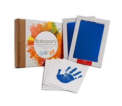 WELTWERK® [2er Set] Handabdruck Baby und Fußabdruck Baby - Clean Touch Tintenabdruck für Neugeborene 0-6 Monate und Kleinkinder - Pfotenabdruck Set Hund