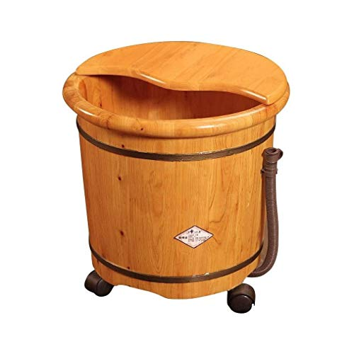 Review Of LJBXDCZ NJ Foot tub- Foot Bath Tub, Pedicure Basin, Wooden Sauna Bucket ,Massage Footbath Sauna Spa Pedicure Basin (Color : Brown, Size : 423631.5CM)