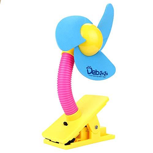 TWISFER Sicher Weiche Klingen Tragbar Flexibler Clip auf Mini-Fan mit USB für Kinderwagen Buggy Babyschale, Plastik, Einheitsgröße