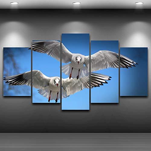 ZXCVWY Modieuze canvas schilderkunst print huis decoratie vogels vliegen in de lucht modulaire afbeeldingen voor de woonkamer 12inx24inx2,12inx28inx2,12inx32inx1.No Frame