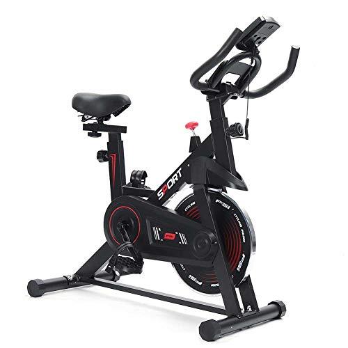 LMZZGAOYANQING Bicicleta de Ciclismo Interior estacionaria - Bicicleta de Ejercicio con cómodo cojín de Asiento, Soporte de teléfono/iPad, Vuelo Pesado y Monitor LCD para el Gimnasio en casa
