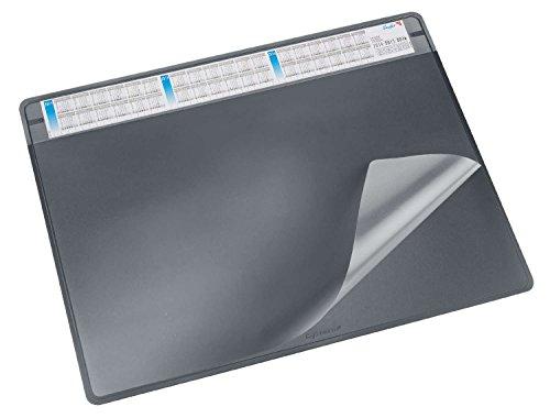 Läufer 47656 bureau-onderlegger Durella Soft met kalender, 65 x 50 cm, zwart