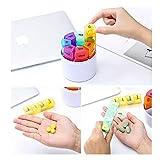 Tablettenbox 7 Tage 4 Fächer - Rund Pillenbox mit Kostenlosem Pillendose Schlüsselanhänger, Tablettendose Morgens Mittags Abends Nachts - Ideal für Medikamente, Tabletten, Vitamins - 5