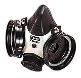 MSA 808061 Comfo Classic Half-Mask Facepiece Respirator, Large, Black
