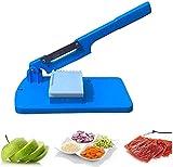 Household - Affettatrice da tavolo multifunzione e taglia, manuale per frutta, verdura, carne