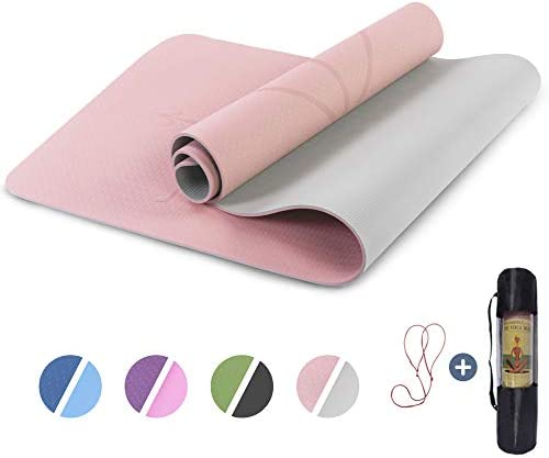 UMINEUX Yoga Mat Non Slip Pilates Fitness Mats with Alignment Marks Eco Friendly Anti Tear Yoga product image