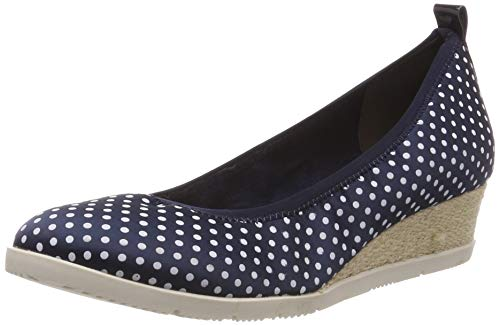 Tamaris Damen 1-1-22381-22 888 Pumps Blau (Navy DOTS 888), 38 EU