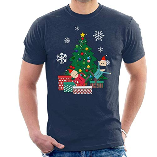 Terrance and Phillip Around The Christmas Tree Men's T-Shirt