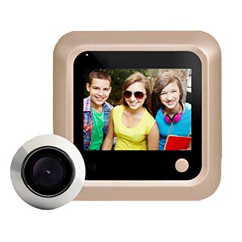Danmini Video deurbel kijkgaatje met camera, foto's maken, grote groothoek 2,4