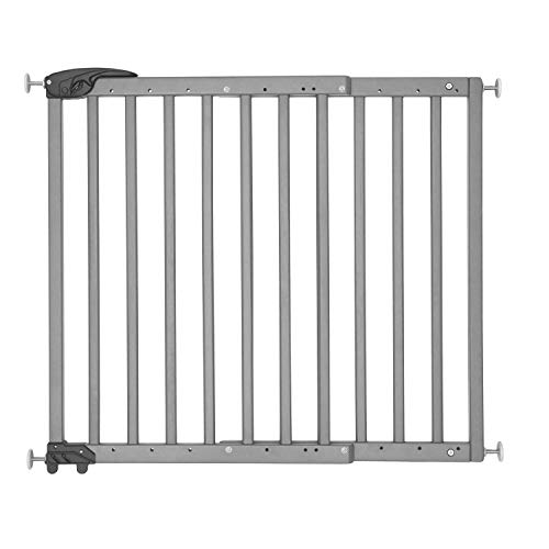 Badabulle Deco Pop Türschutzgitter/Treppengitter grau, Schraub- oder Druckbefestigung (63,5-106 cm)