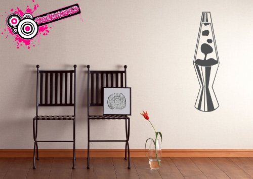 Vinylworld Lava-Lampe lavalamp Vinyl Wand Kunst Aufkleber Aufkleber silber