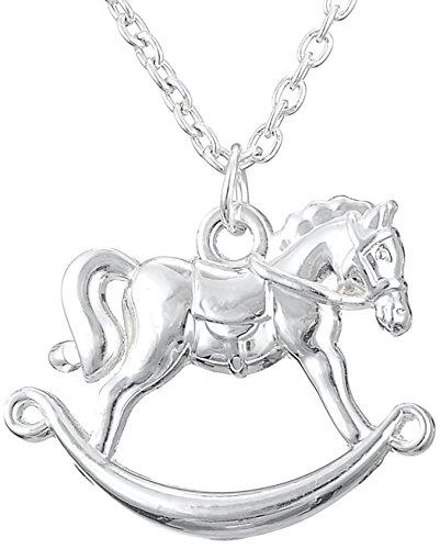 Little Pony Anhänger stehendes Pferd Halskette für Teenager Mädchen Reitsport Geburtstagsgeschenk Schmuck