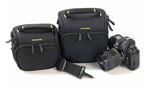 Tucano Tech Schoudertas Zwart - Beschermhoezen en cameratassen (schoudertas, alle merken, Zwart)