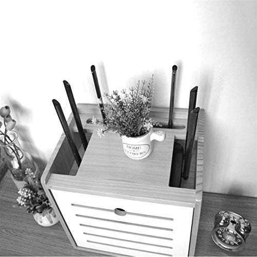 Rack de enrutador Soporte de montaje en la pared de los estantes, for la caja de TV del soporte del enrutador WiFi, caja de cable de módem de caja de juego, estantería de dispositivo de transmisión de