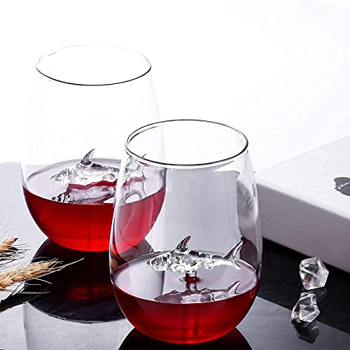 2 Pack of Stemless Premium CrystalWine Glass (18 OZ ) Only $8.49