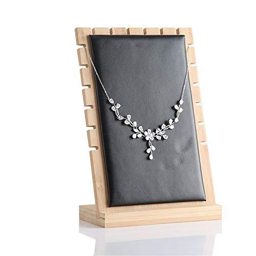 XuZeLii Schmuckständer Die Organisatoren Halskette Schmuck-Display Staffelei Monitore Ring Halskette Rack-und Desktop-Ständer Hängender Stand (Farbe : Schwarz, Größe : 17.4 * 10 * 25.2cm)