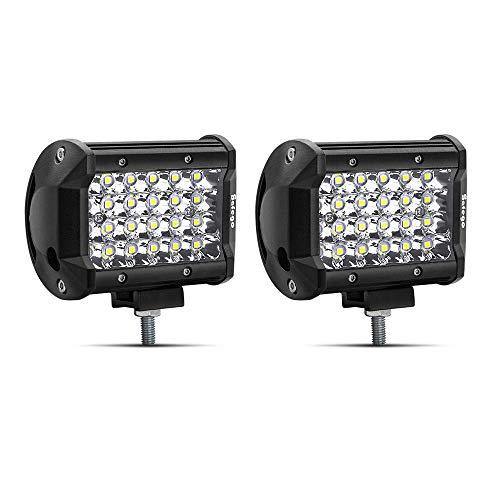 """Safego 4"""" 72W LED Faro da Lavoro Luce Barra 6000LM Faretto a LED Impermeabile IP67 Fendinebbia Luci per Off Road SUV ATV Camion Barca Mining Spotlight 12V 24V, 1 anno di Garanzia, 2 pezzi"""