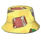 Yearinspace Sombrero de pescador Bayans o Acordeones Moda Plegable Portátil Sol Gorras Unisex Exterior Para Jardinería Protección UV