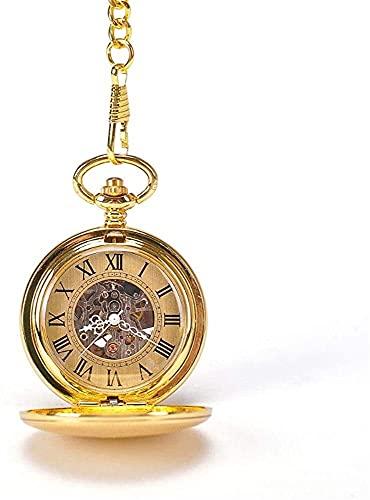 Relojes de bolsillo,Reloj de bolsillo Reloj de bolsillo Unisex Antiguo Antiguo Pocket Reloj Mecánico Esqueleto Reloj de bolsillo con cadena Día de San Valentín Día de padre Regalo Unisex Simple Retro