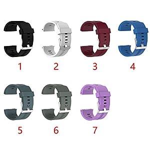 SADA72 Polar V800 - Correa de repuesto de silicona suave para reloj deportivo Polar V800 GPS, herramienta de reparación incluida, color rojo