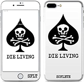 SOFLETE Die Living White Protector Skin Sticker Compatible with Apple iPhone 7 Plus - Ultra Thin Protective Vinyl Decal Wrap Cover