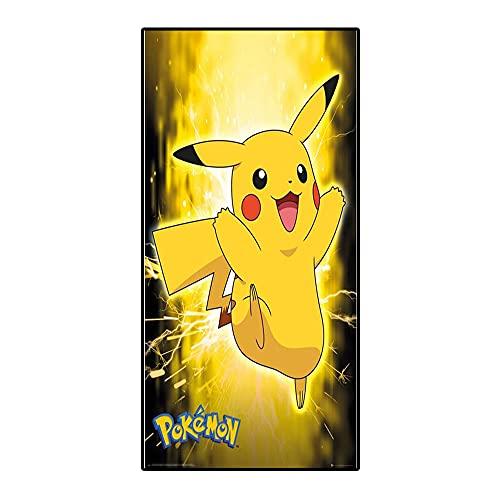 Amacigana® Toallas de playa Pikachu, toalla de viaje de secado rápido y compacta, tacto súper suave, 100% poliéster, perfecto para el hogar, playa y piscina (Pikachu10,85 x 180 cm)