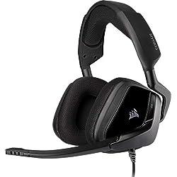 Corsair VOID ELITE Surround Cuffie Gaming con Microfono Omnidirezionale Ottimizzato, Audio 7.1 con PC, PS4, Xbox One, Switch e Mobili Compatibilità, Nero