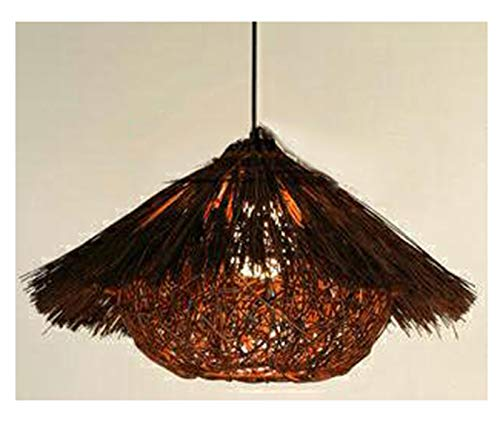 Modern Rattan Basket Ceiling Pendant Bird's Nest Handmade Chandelier for Bedroom Living Room Light Shades Teahouse Dining Room Bamboo Lamp Bar Cafe Club coffee-40 * 22cm
