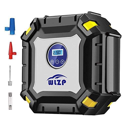 WLZP Digitale per gonfiaggio Pneumatici con manometro Digitale a LED, 12 V psi Pompa Portatile Pneumatico compressore d' Aria Elettrico per Auto, Camion, Moto, Bici, Palline, Gonfiabile Beds
