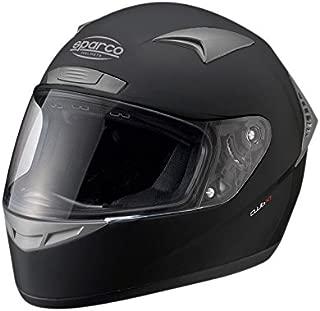 Sparco Club X-1 Full Face ATM Racing Helmet, Black, M Size