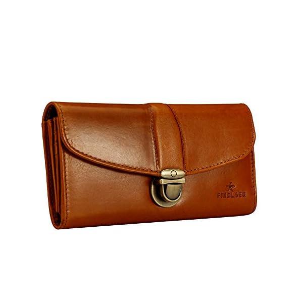 Finelaer Leather Clutch Purse Envelope Card Holder Wallet 4