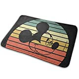 Bienvenido Vintage Retro Disneyland Mickey Mouse Alfombrilla para puerta Alfombra de entrada para interiores y exteriores Alfombrillas de goma Alfombrillas finas antideslizantes para alfombrillas para